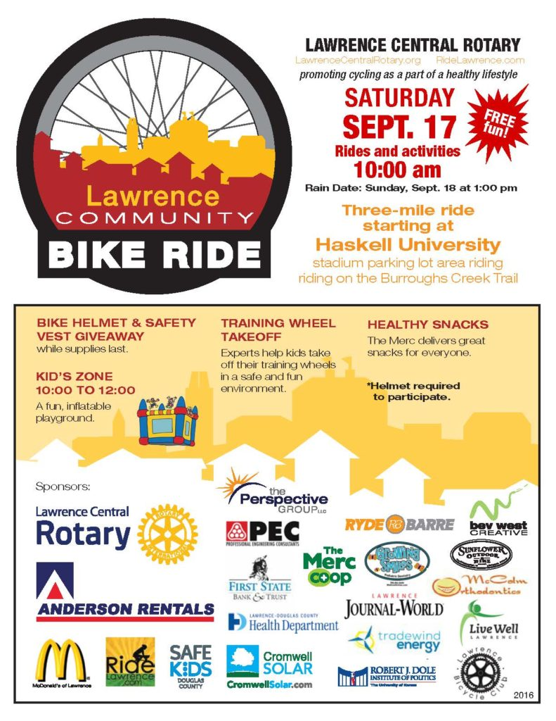 Lawrence Fall Community Bike Ride 2016